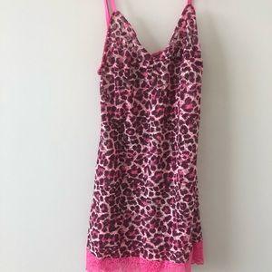 Victoria's Secret Pink leopard print slip dress